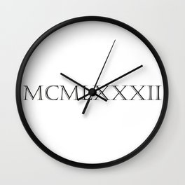 Roman Numerals - 1982 Wall Clock