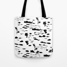 Black and white mess Tote Bag