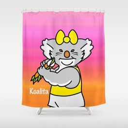 Koalita leaves sandwich Shower Curtain