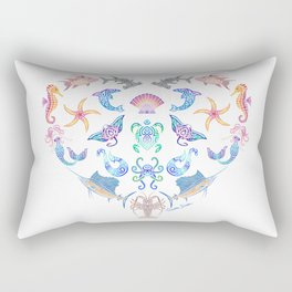 Ocean Treasures on White Rectangular Pillow