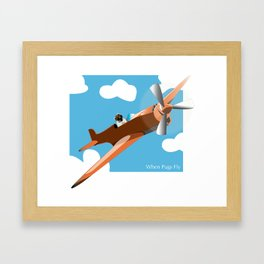 When Pugs Fly Framed Art Print