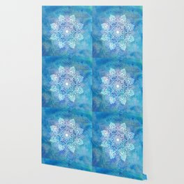 Mandala blue Wallpaper