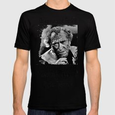 BUKOWSKI quote - FUCK it MEDIUM Mens Fitted Tee Black