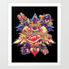 BOWSER NEVER LOVED ME Art Print