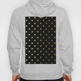 Gold polka dots on black pattern Hoody