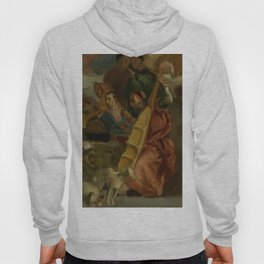 """Eugène Delacroix """"Musicians, after Veronese, a detail from The Marriage at Cana"""" Hoody"""