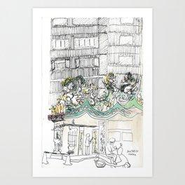 sketch_temple Art Print