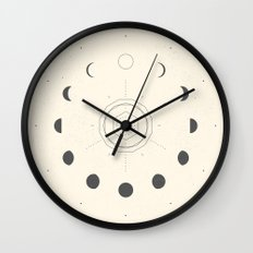 Moon Phases Light Wall Clock