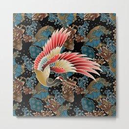 cranes and waves Metal Print