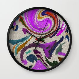"""Sabbia"" Original Digital Art 2014 Wall Clock"