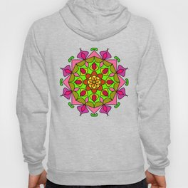 Single Mandala with Abstract Foliage Hoody