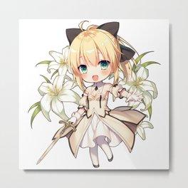 Fate/Grand Order Artoria Pendragon (Lily) Metal Print