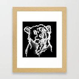 introverted bear Framed Art Print
