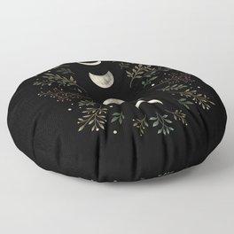 Moonlight Garden - Olive Green Floor Pillow