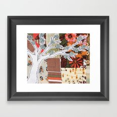 Spring Tree in a Patchwork Field Framed Art Print