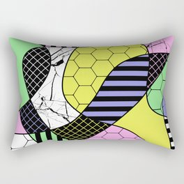 Pastel Collage - Multi patterned, abstract, pastel themed geometric art Rectangular Pillow