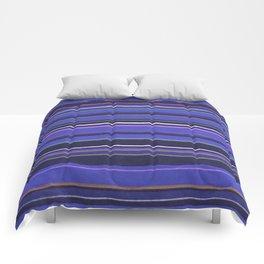 Blue-Purple Striped Pattern Comforters