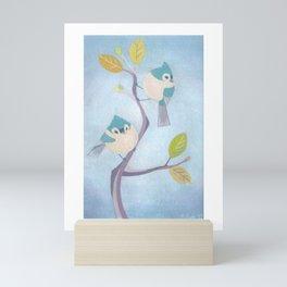 Blue Friendship Mini Art Print