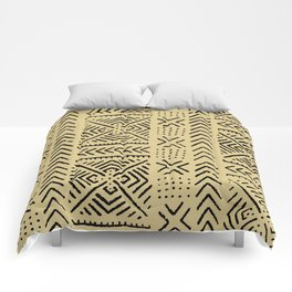 Line Mud Cloth // Tan Comforters