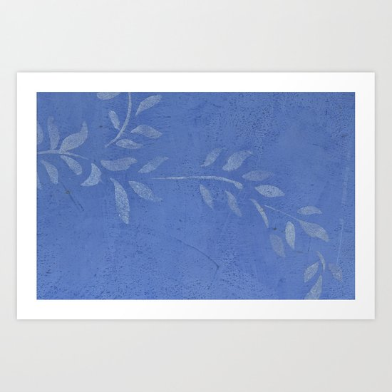 Blue Ivy Vine - Pretty - Rustic - Floral Art Print