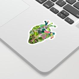 Botanical Heart Pink Sticker