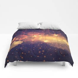Shiny Sparkling Festive Holiday Bokeh Decorative Comforters