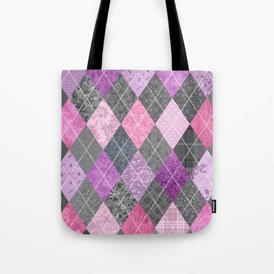 Magic Argyle Quilt Tote Bag