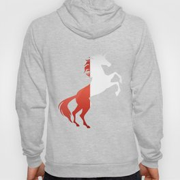 Unicorn Poland Flag Magical Unicorn Pole Hoody