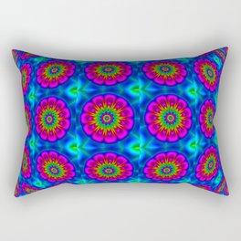 Flower  rainbow-colored Rectangular Pillow
