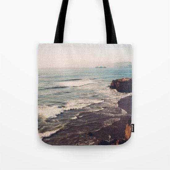 Vintage Ocean #landscape Tote Bag