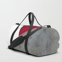 Concrete Burgundy Red White Duffle Bag