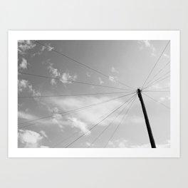 Power Pole Art Print