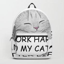 I Work Hard Backpack