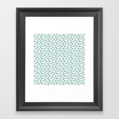 DOTS BLUE AND YELLOW  WATERCOLOUR Framed Art Print
