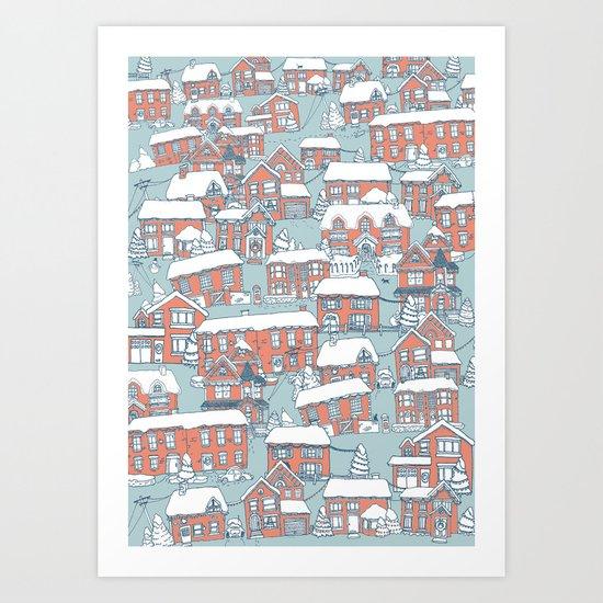 Christmas Village  Art Print