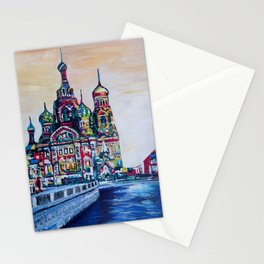 st petersburg  with church of the savior on blood Stationery Cards