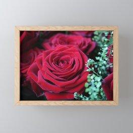 Deep Red Rose Framed Mini Art Print