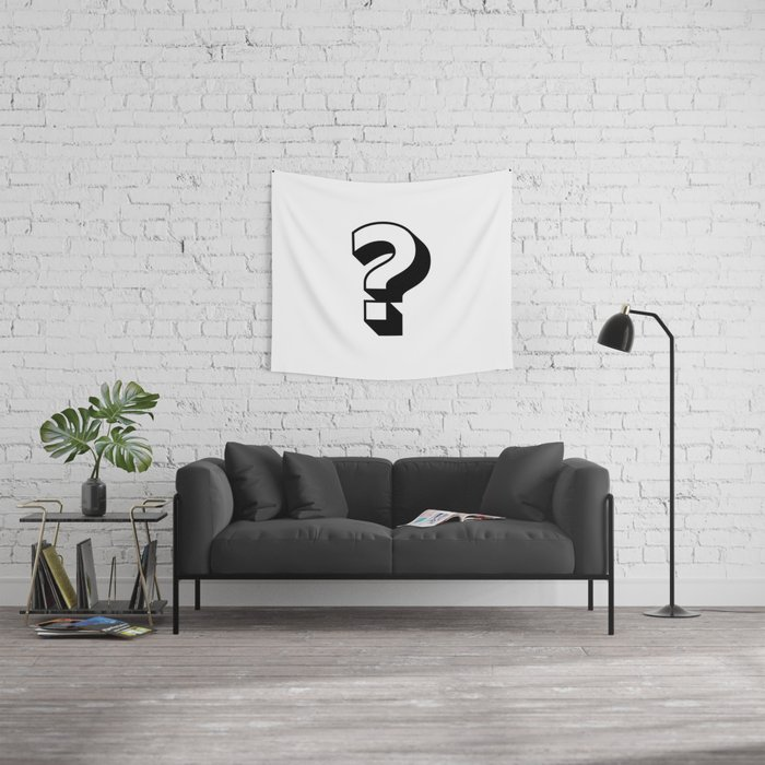 Question Mark ? Wall Tapestry