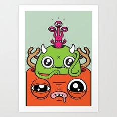 Monster Mind Art Print