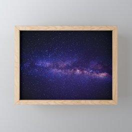 Purple Glitter Star Galaxy Framed Mini Art Print
