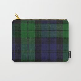 chainsaw blue & green - holiday and everyday black blue tartan black watch plaid check Carry-All Pouch