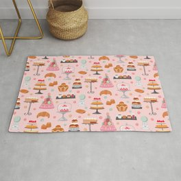 French pastries in pastel Rug