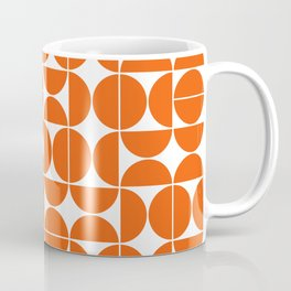 Mid Century Modern Geometric 04 Orange Coffee Mug