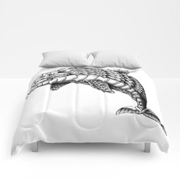 Ornate Dolphin Comforters