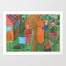 Garden. Art Print