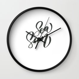 Sea Sun Wall Clock
