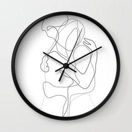 Lovers - Minimal Line Drawing Wall Clock