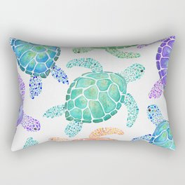Sea Turtle - Colour Rectangular Pillow