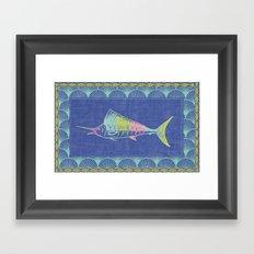 Thrift Shop Sail Fish Framed Art Print