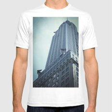 Who needs a hero? MEDIUM White Mens Fitted Tee